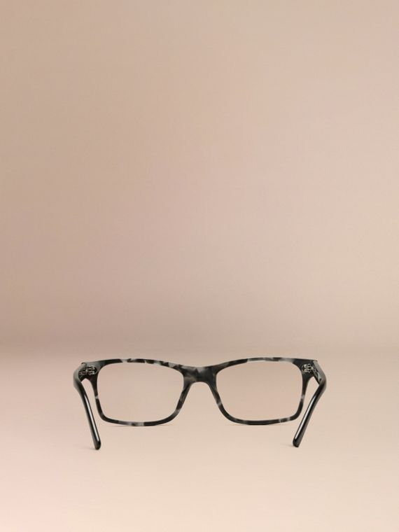 Pale grey melange Rectangular Optical Frames Pale Grey Melange - cell image 2