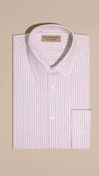Modern Fit Striped Cotton Shirt