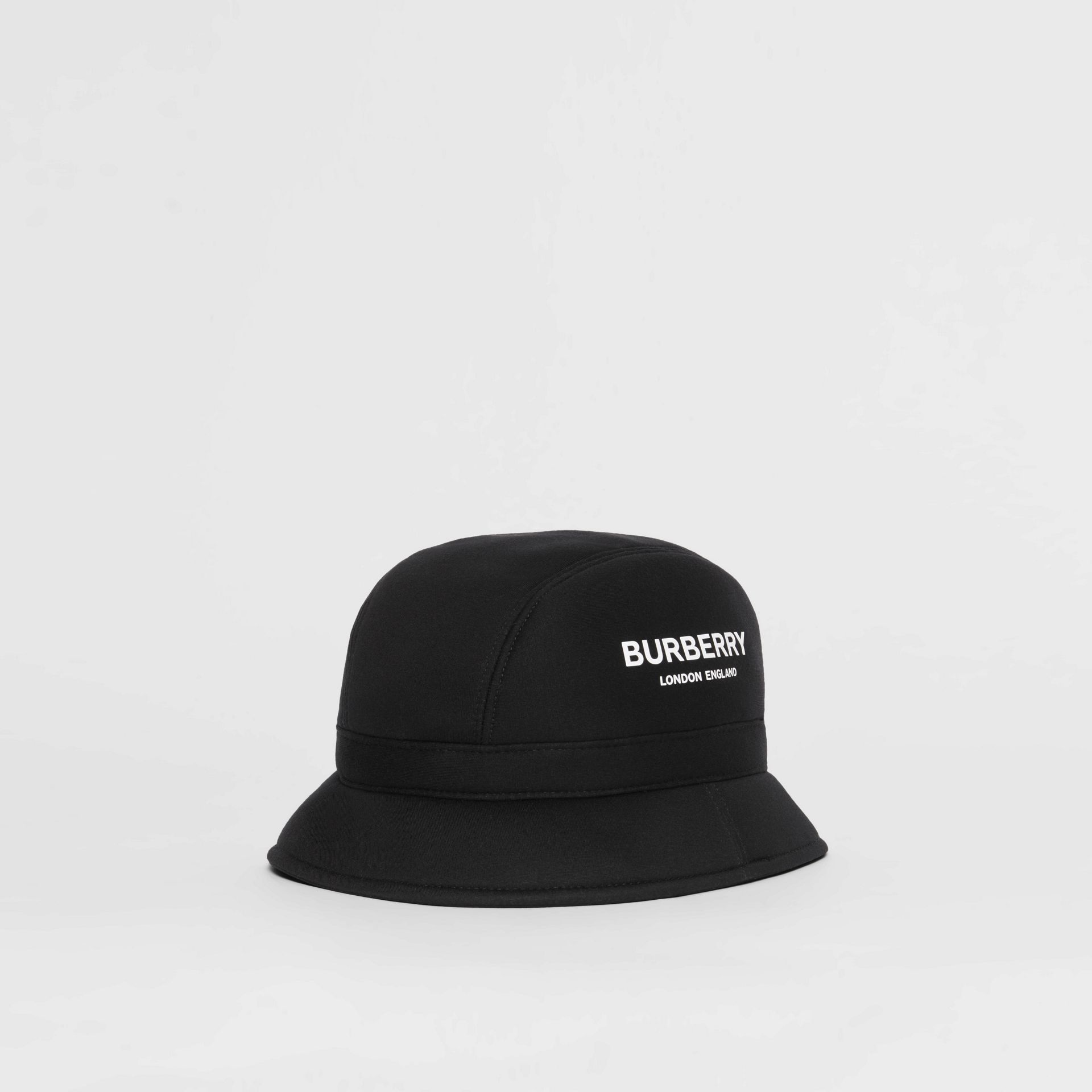 Kingdom Print Neoprene Bucket Hat in Black | Burberry - gallery image 0