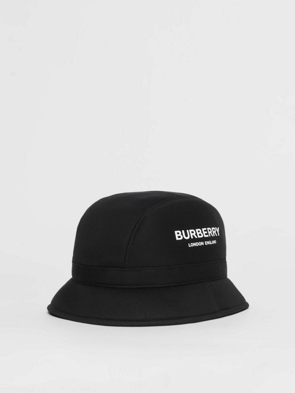 Kingdom Print Neoprene Bucket Hat in Black