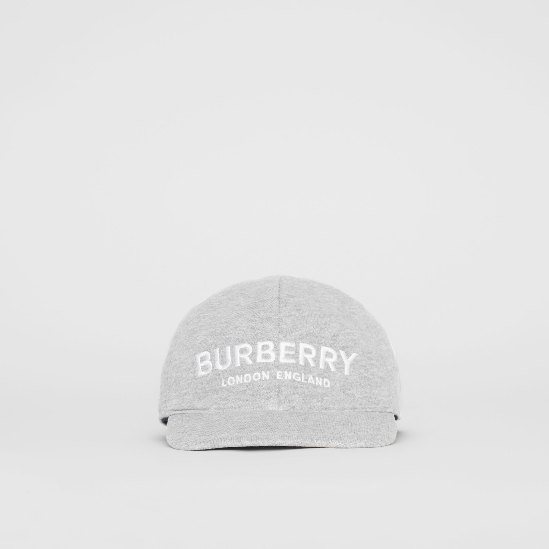 Embroidered Logo Baseball Cap in Light Grey Melange - Children | Burberry United Kingdom - gallery image 0