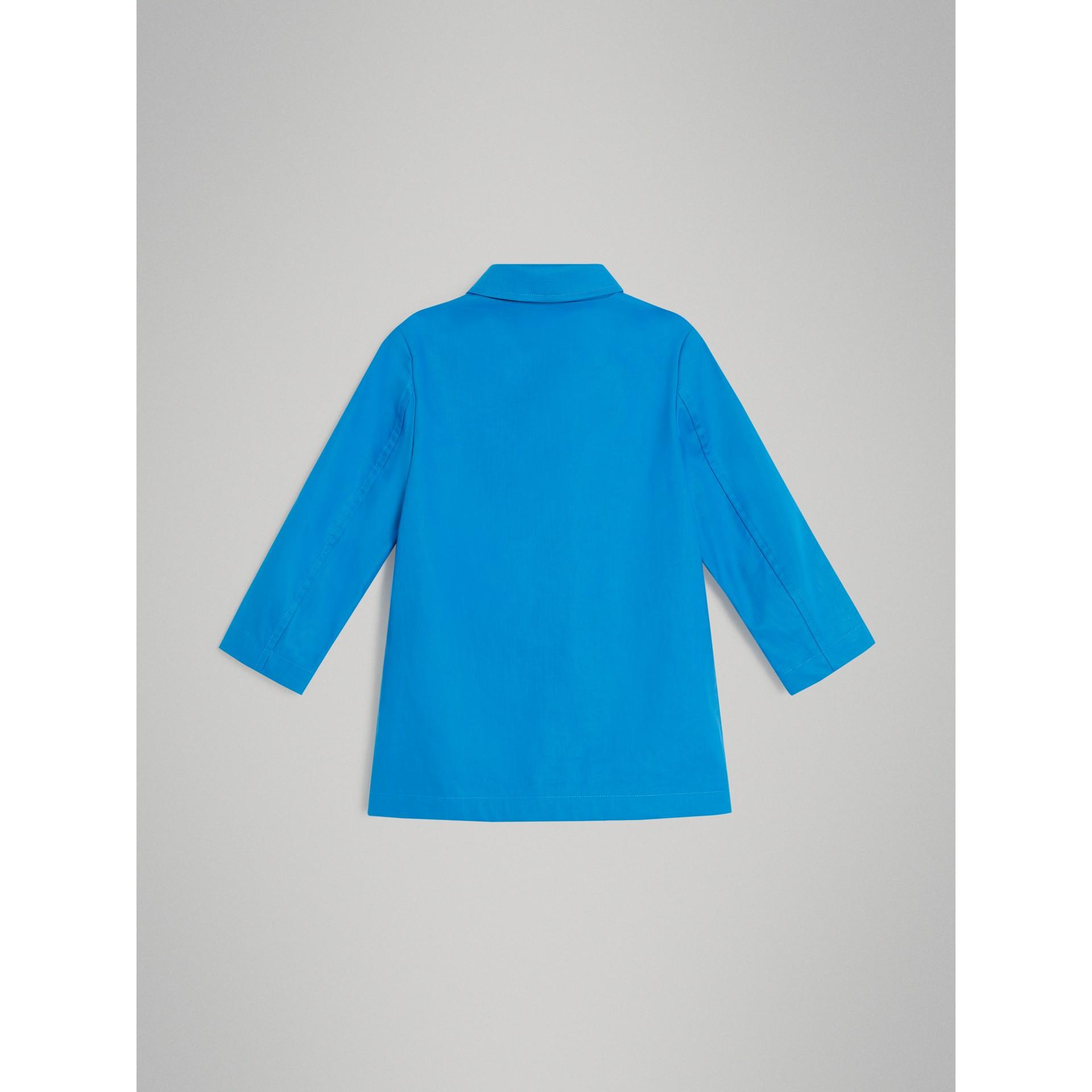Cappotto car coat in cotone doppiato mercerizzato (Blu Intenso) | Burberry - immagine della galleria 2