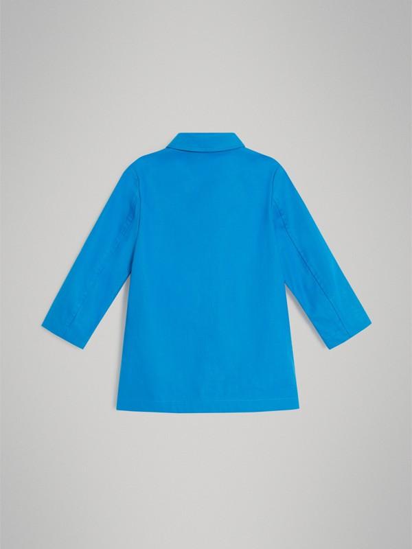 Cappotto car coat in cotone doppiato mercerizzato (Blu Intenso) | Burberry - cell image 2