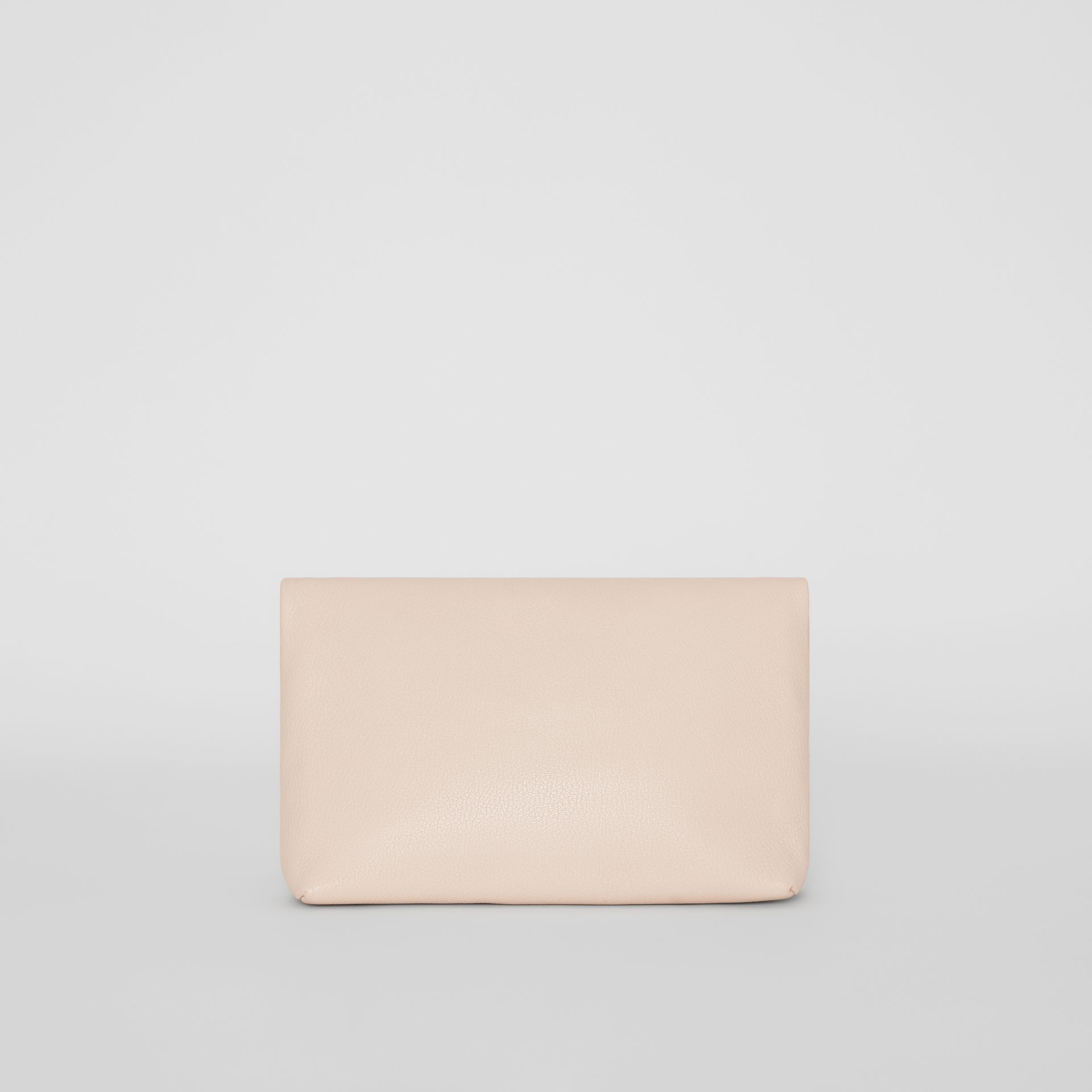 The Medium Pin Clutch in Leather in Stone - Women | Burberry - gallery image 7