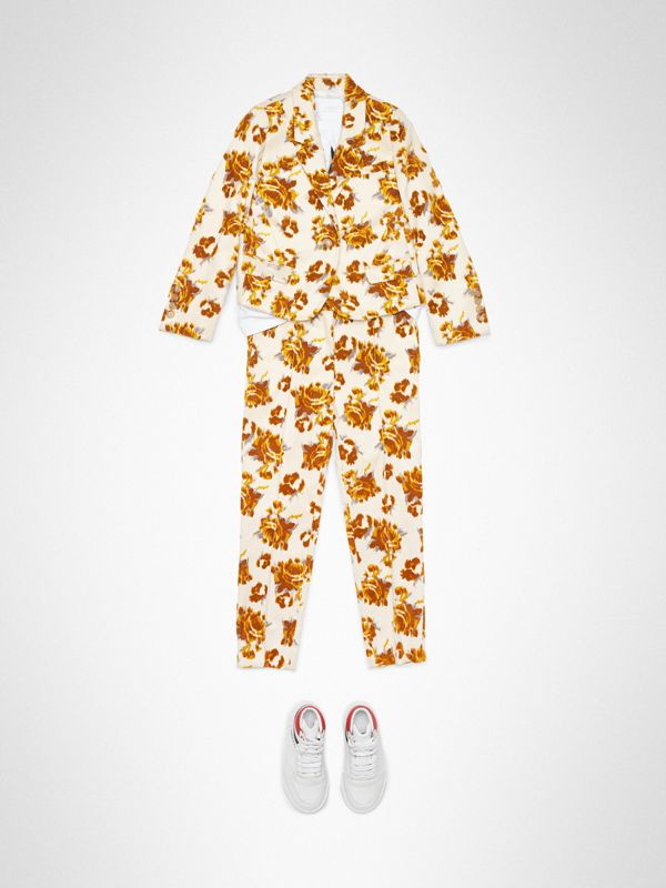 Blazer en jacquard de velours à motif floral (Moutarde) | Burberry - cell image 2