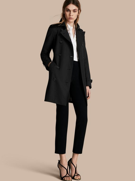 Trench coat Kensington - Trench coat Heritage de longitud media Negro