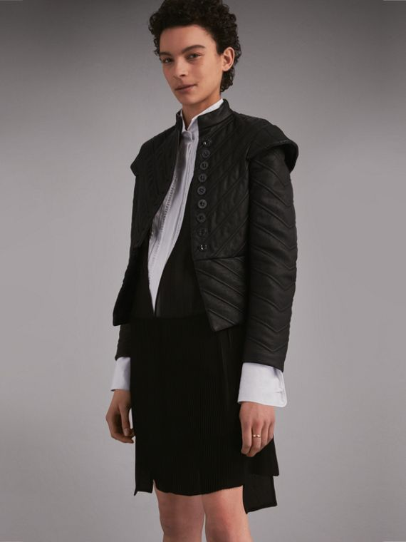 Quilted Lambskin Military-inspired Jacket
