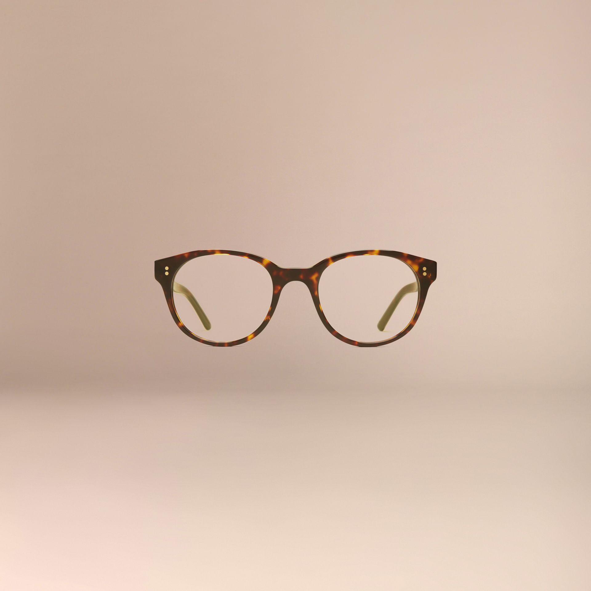 Round Optical Frames Tortoise Shell - gallery image 3