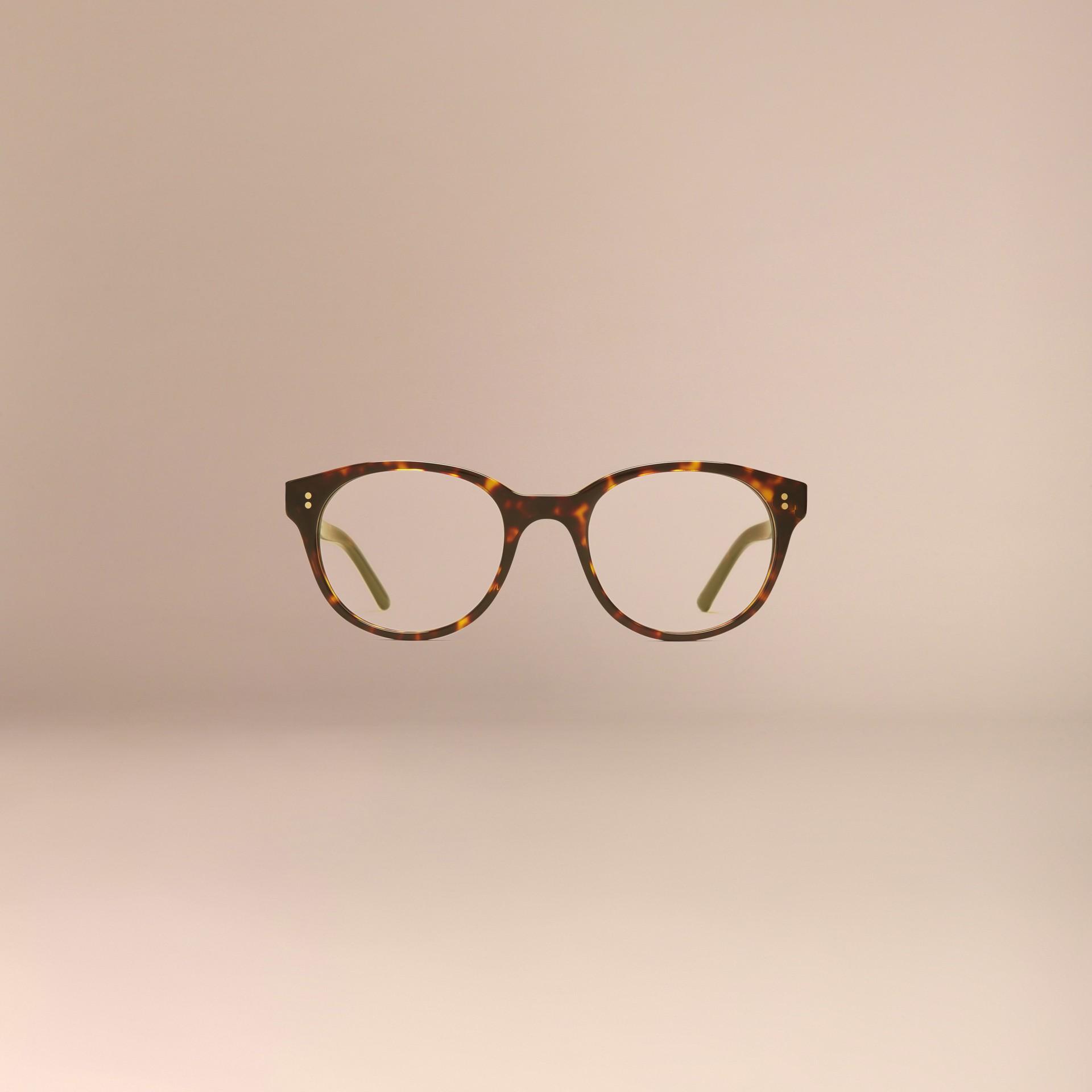 Écaille de tortue Monture ronde pour lunettes de vue Écaille  Tortue - photo de la galerie 3