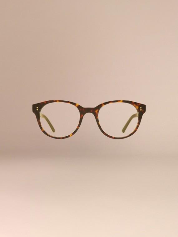 Écaille de tortue Monture ronde pour lunettes de vue Écaille  Tortue - cell image 2