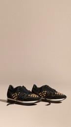 The Field Sneaker in Studded Suede