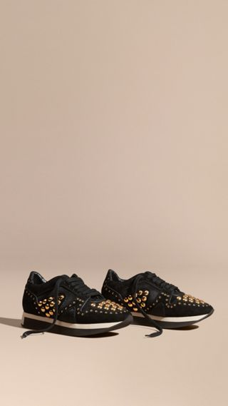 The Field Sneaker in Studded Suede