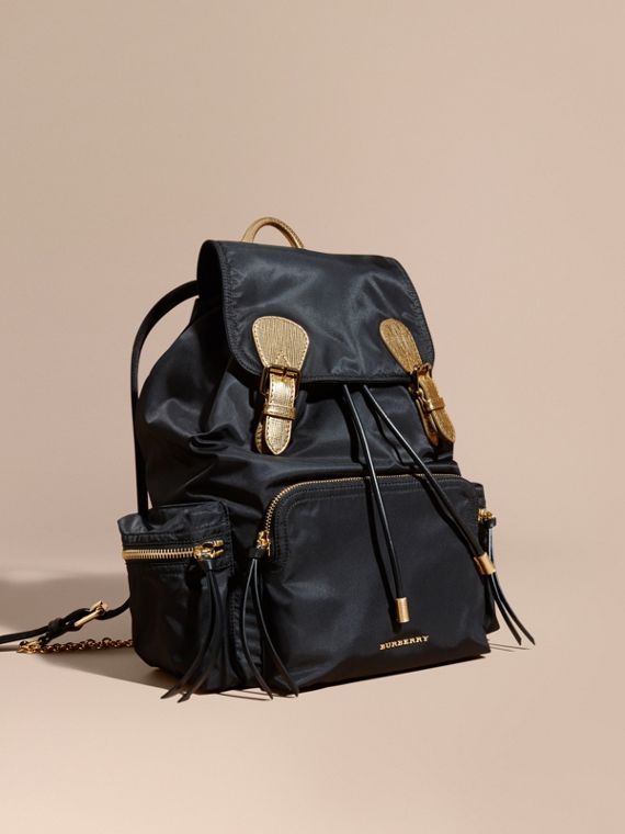 Zaino The Rucksack grande in nylon bicolore e pelle