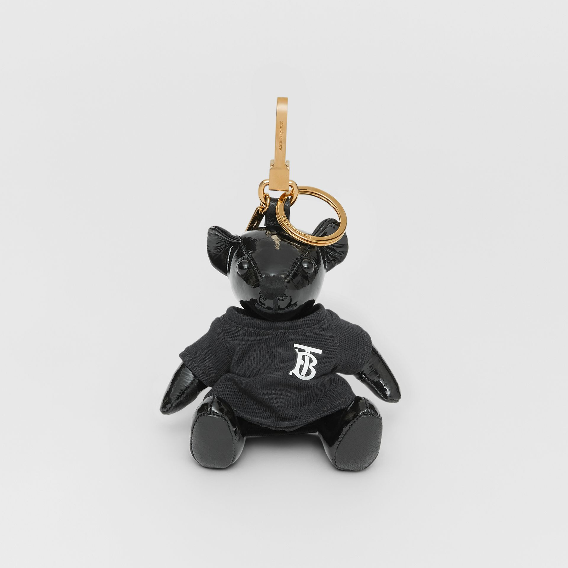 Thomas Bear Charm in Monogram Motif T-shirt in Black - Women | Burberry United Kingdom - gallery image 2