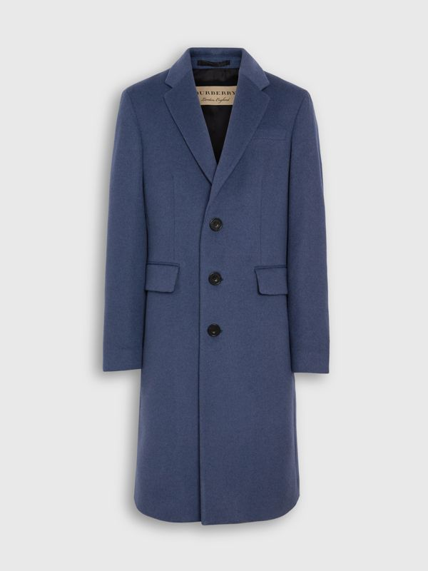 Wool Cashmere Tailored Coat in Dark Canvas Blue - Men | Burberry United Kingdom - cell image 3