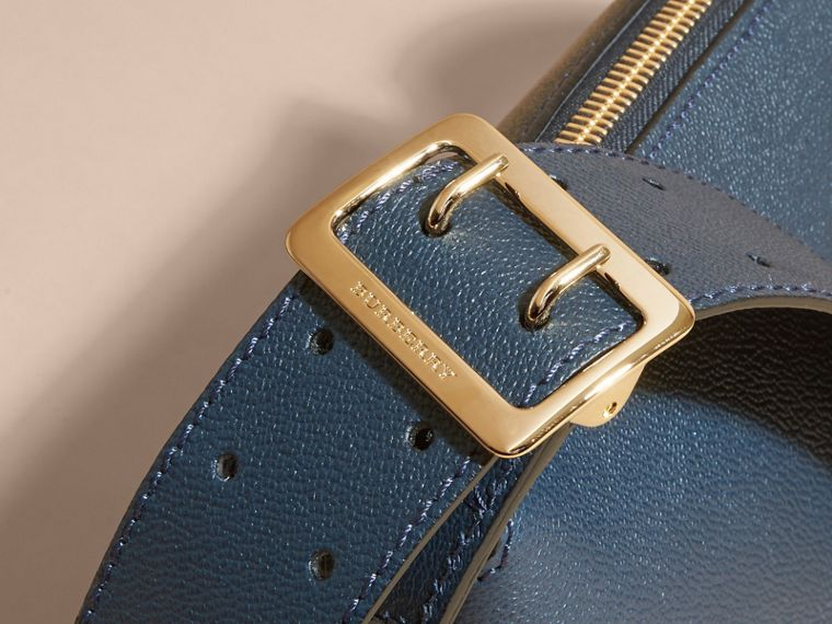Buckle Detail Leather Crossbody Bag in Blue Carbon - cell image 1