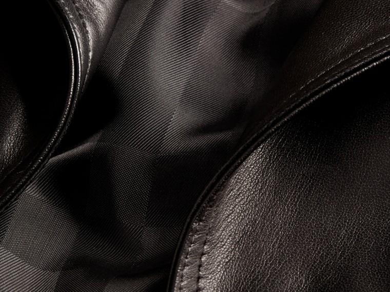 Black Lambksin Trench Jacket - cell image 1