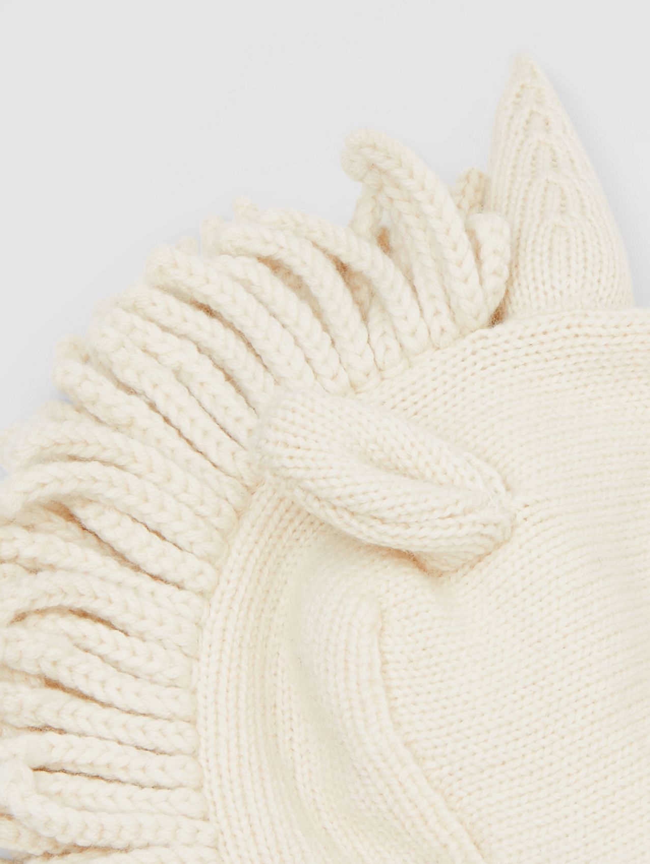 Unicorn Wool Cashmere Hat in Ivory