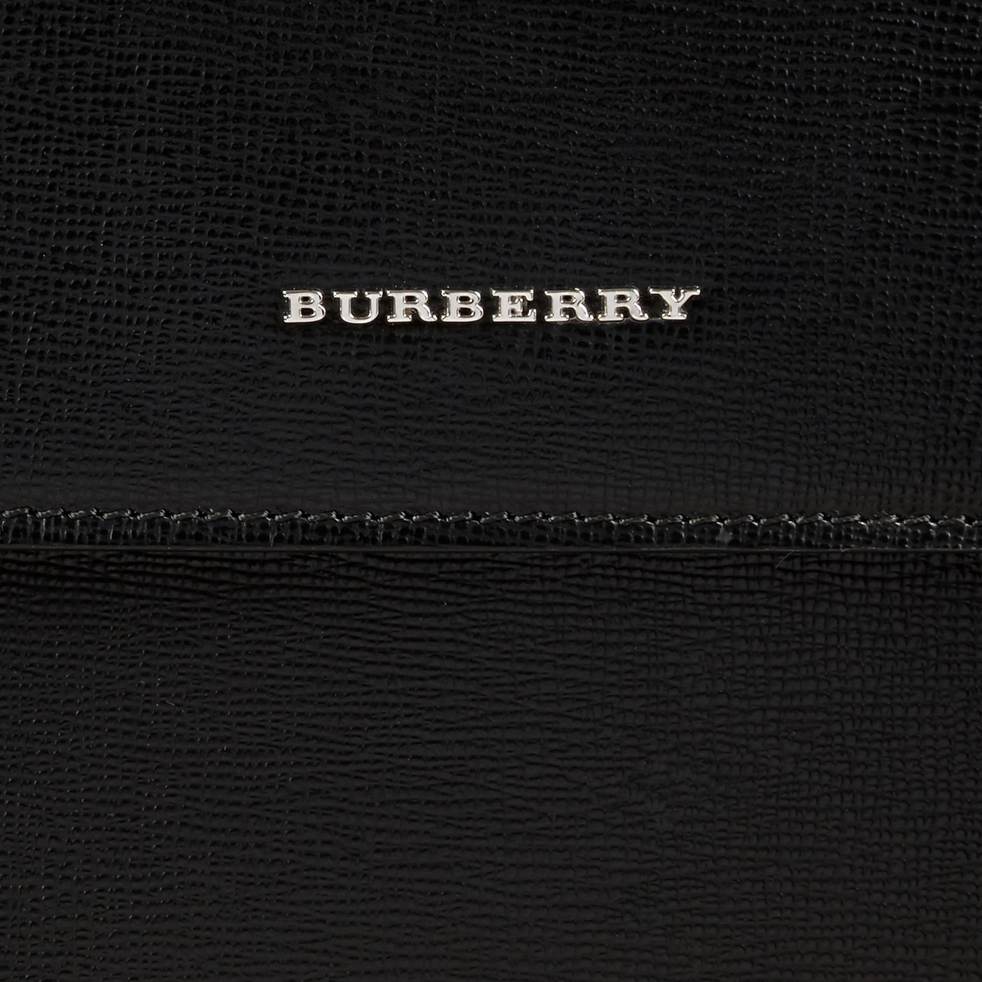 Black London Leather Briefcase - gallery image 2