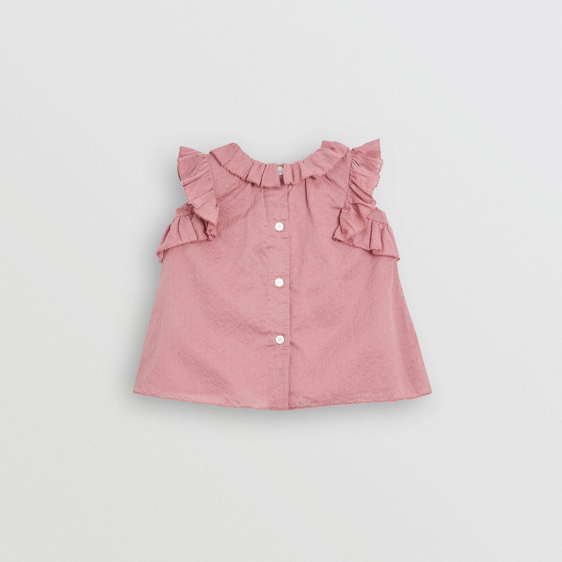 Robe en coton à volants et bloomer (Baie De Sureau Clair) - Enfant | Burberry Canada - photo de la galerie 3