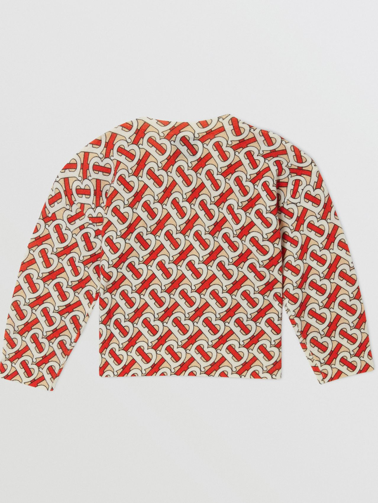 Monogram Print Merino Wool Sweater (Vermilion Red)