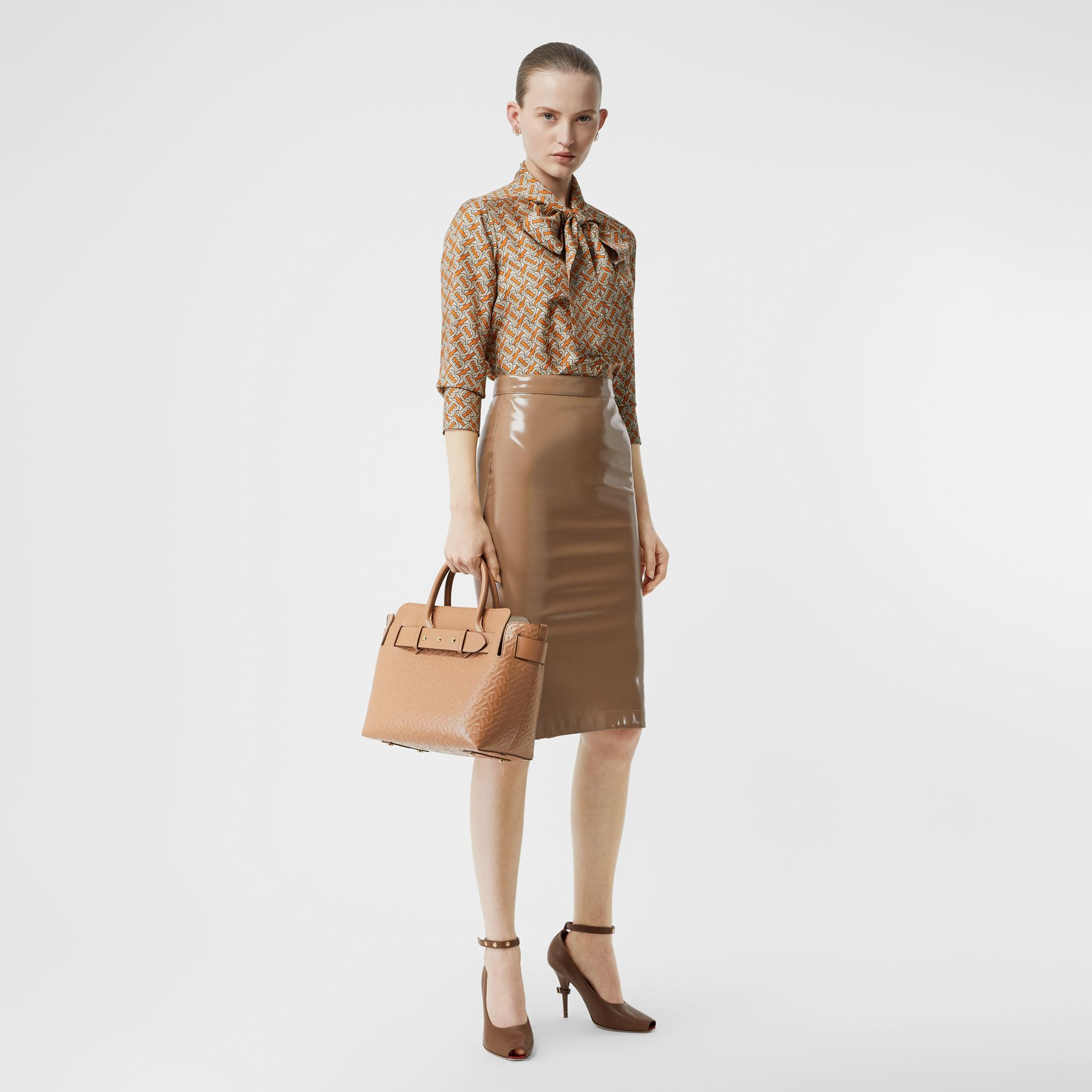 The Small Monogram Leather Triple Stud Belt Bag in Light Camel - Women | Burberry - gallery image 5