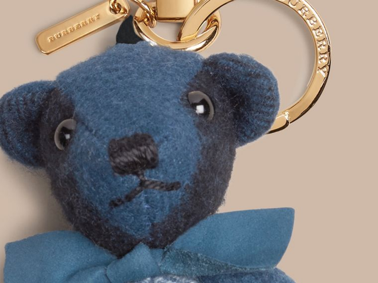Marine blue Thomas Bear Charm in Check Cashmere Marine Blue - cell image 1