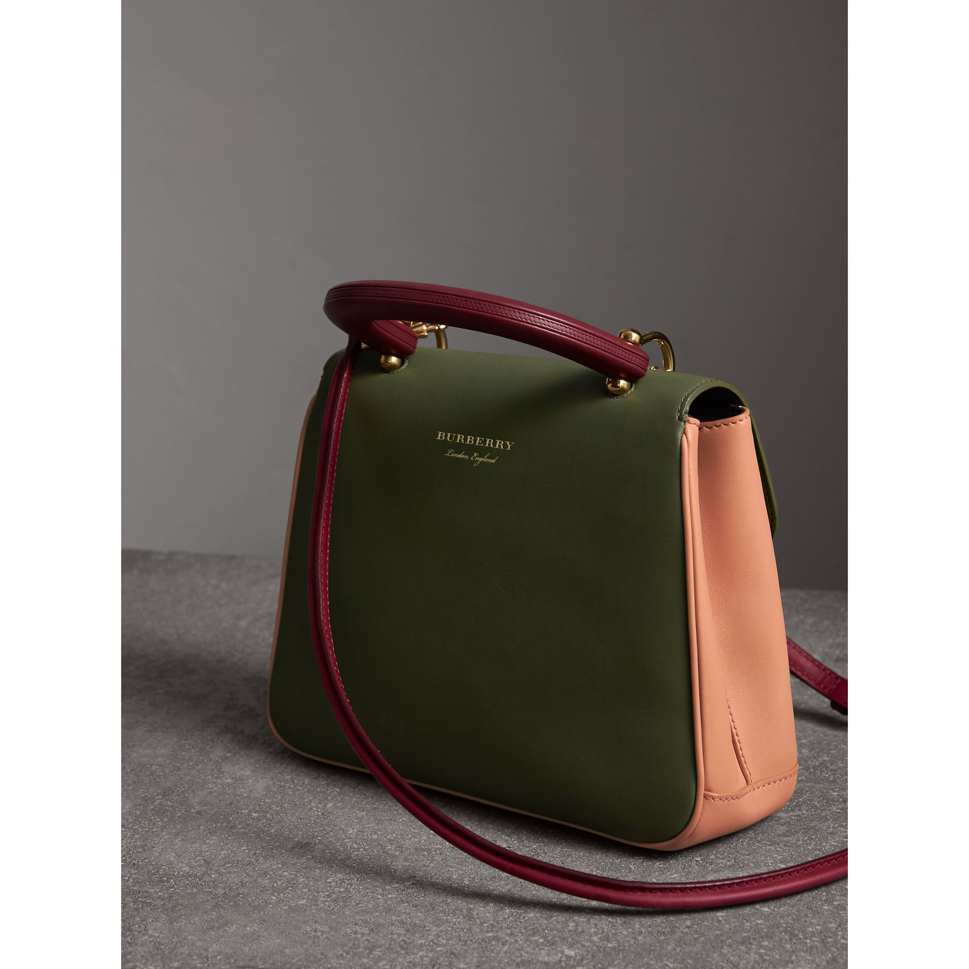 The Medium DK88 Top Handle Bag in Pale Clementine/moss Green - Women | Burberry Australia - gallery image 4