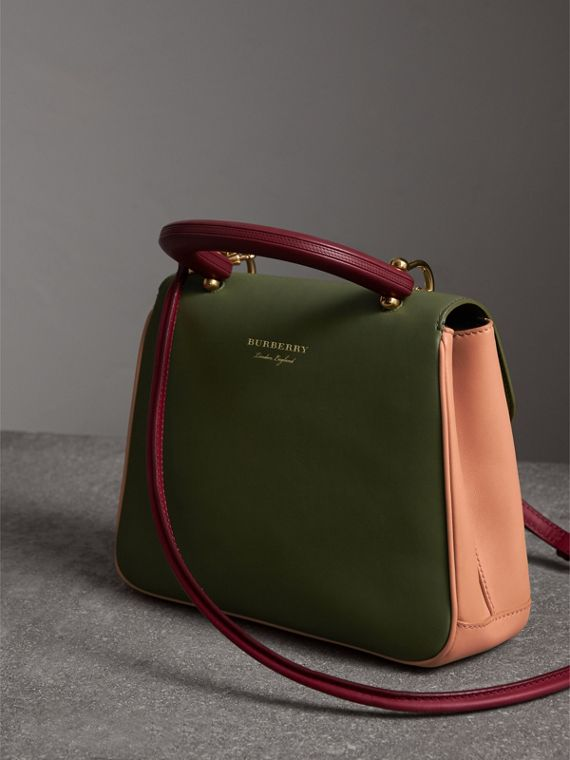The Medium DK88 Top Handle Bag in Pale Clementine/moss Green - Women | Burberry Australia - cell image 3