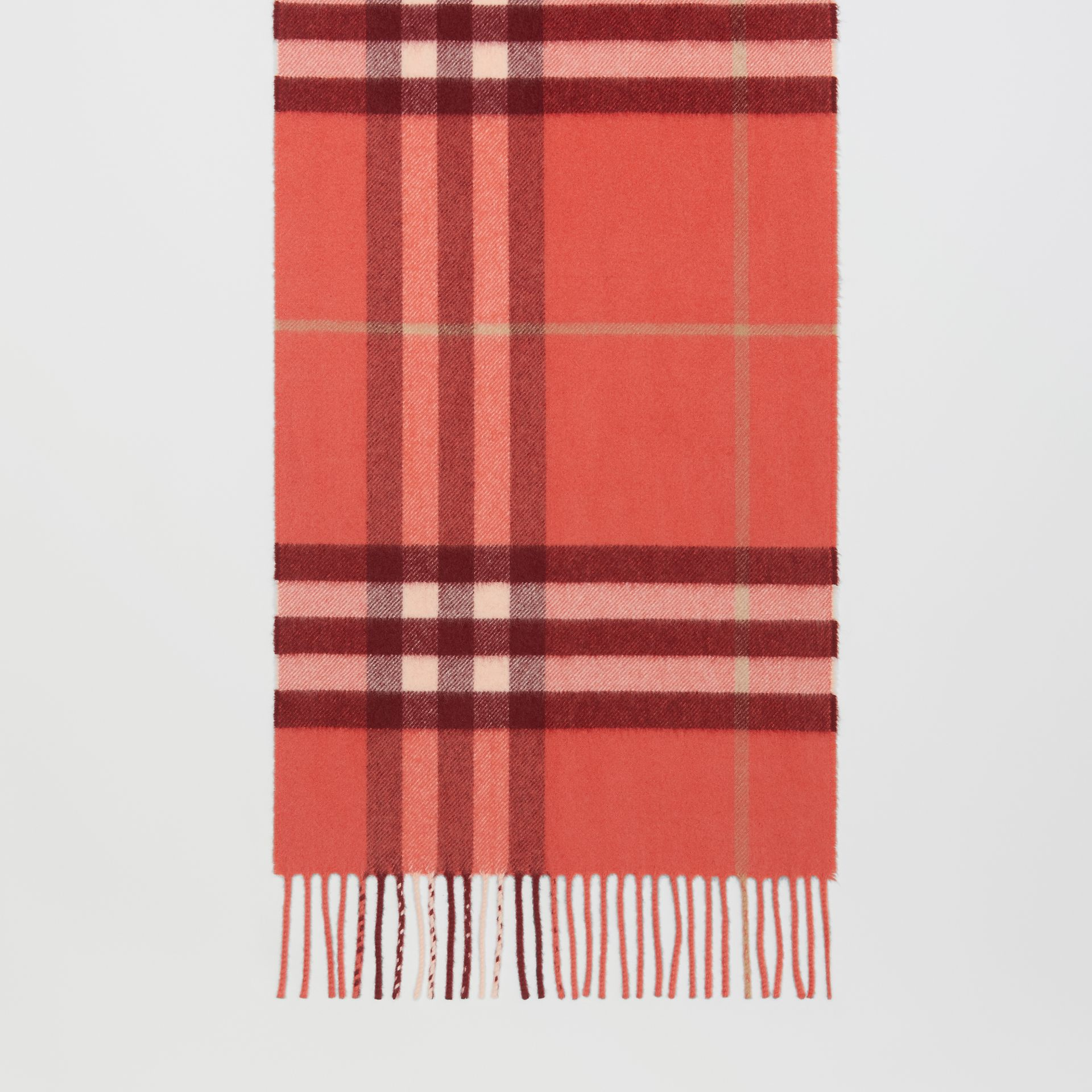 The Classic Check Cashmere Scarf in Clay Sienna | Burberry - gallery image 3