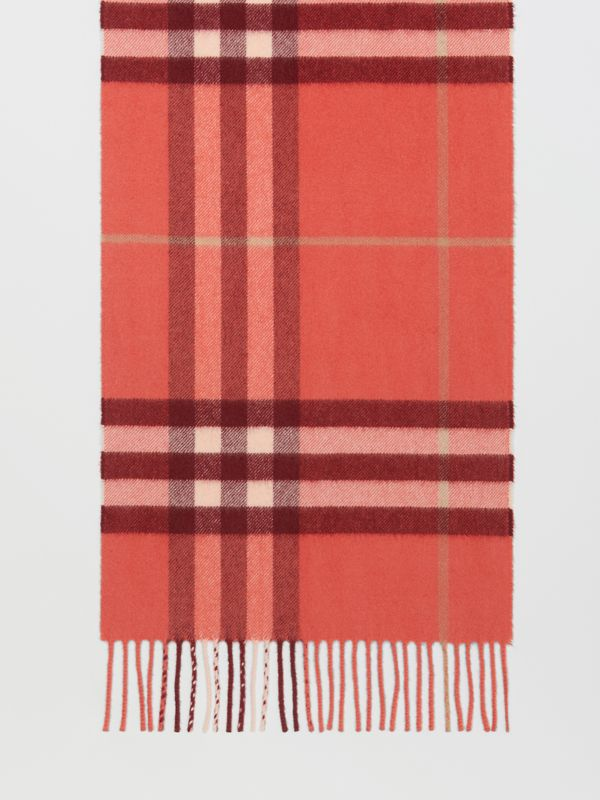The Classic Check Cashmere Scarf in Clay Sienna | Burberry - cell image 3