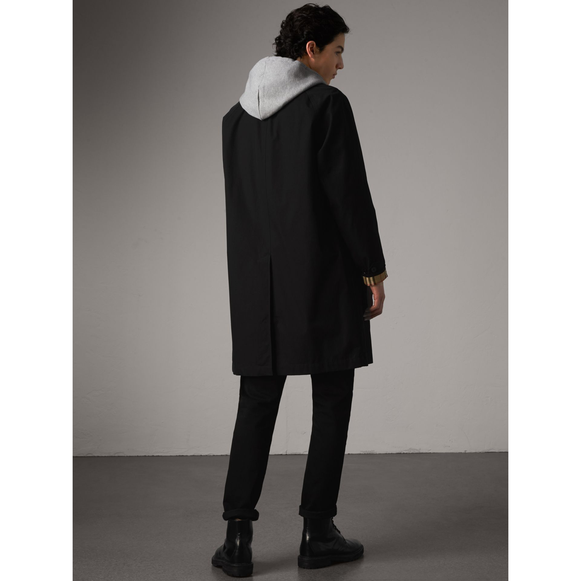 The Camden – Long Car Coat in Black - Men | Burberry United Kingdom - gallery image 3