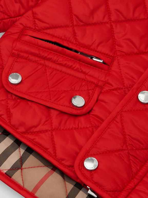 Lightweight Diamond Quilted Jacket in Bright Red - Children | Burberry United Kingdom - cell image 1