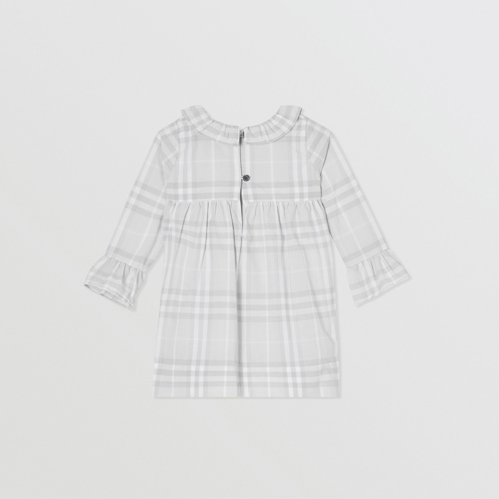 Long-sleeve Vintage Check Cotton Dress in Pale Grey - Children | Burberry - gallery image 3