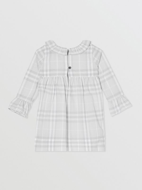 Long-sleeve Vintage Check Cotton Dress in Pale Grey - Children | Burberry - cell image 3