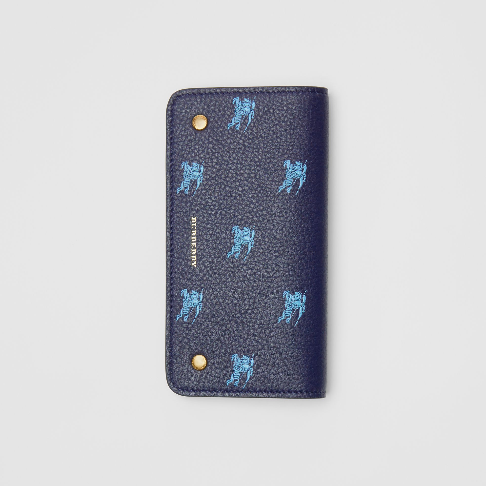 EKD Leather Phone Wallet in Regency Blue - Women | Burberry Australia - gallery image 3
