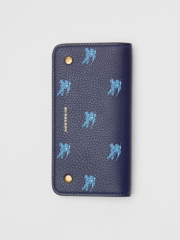 EKD Leather Phone Wallet in Regency Blue - Women | Burberry - cell image 3