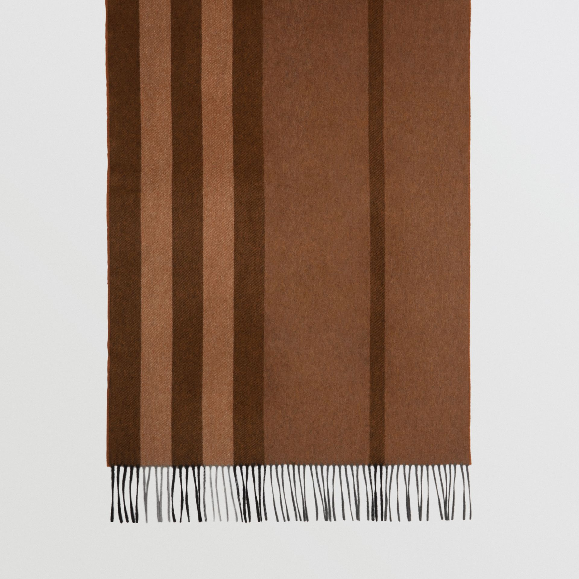 Colour Block Check Cashmere Scarf in Toffee | Burberry United Kingdom - gallery image 4