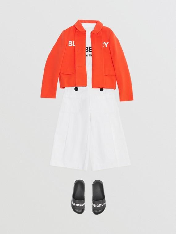 Zweireihige Jacke aus Jerseykrepp mit Burberry-Logo (Leuchtendes Rot)