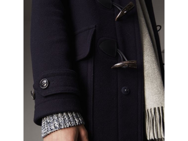 Wool-Blend Duffle Coat in Navy - Men | Burberry - cell image 1