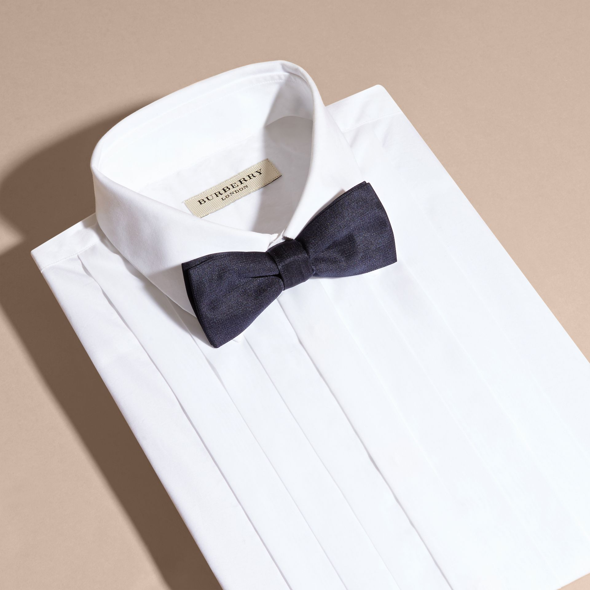 Silk Bow Tie - Men | Burberry Canada - gallery image 3