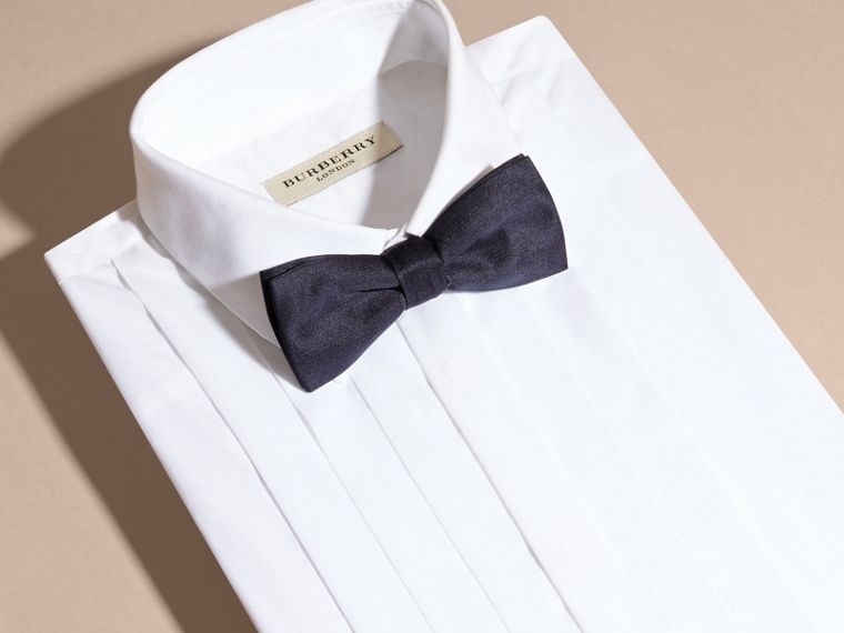 Silk Bow Tie in Midnight - Men | Burberry - cell image 2