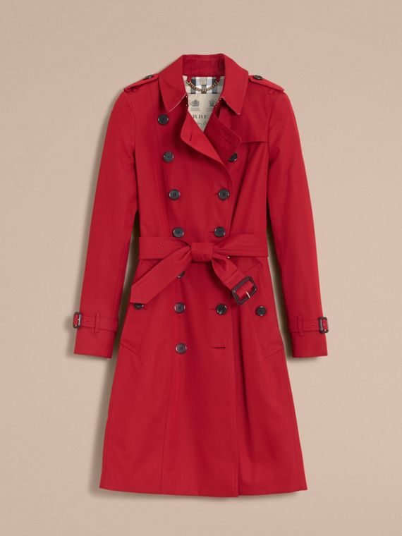 The Chelsea – Long Heritage Trench Coat in Parade Red - Women | Burberry Singapore - cell image 3