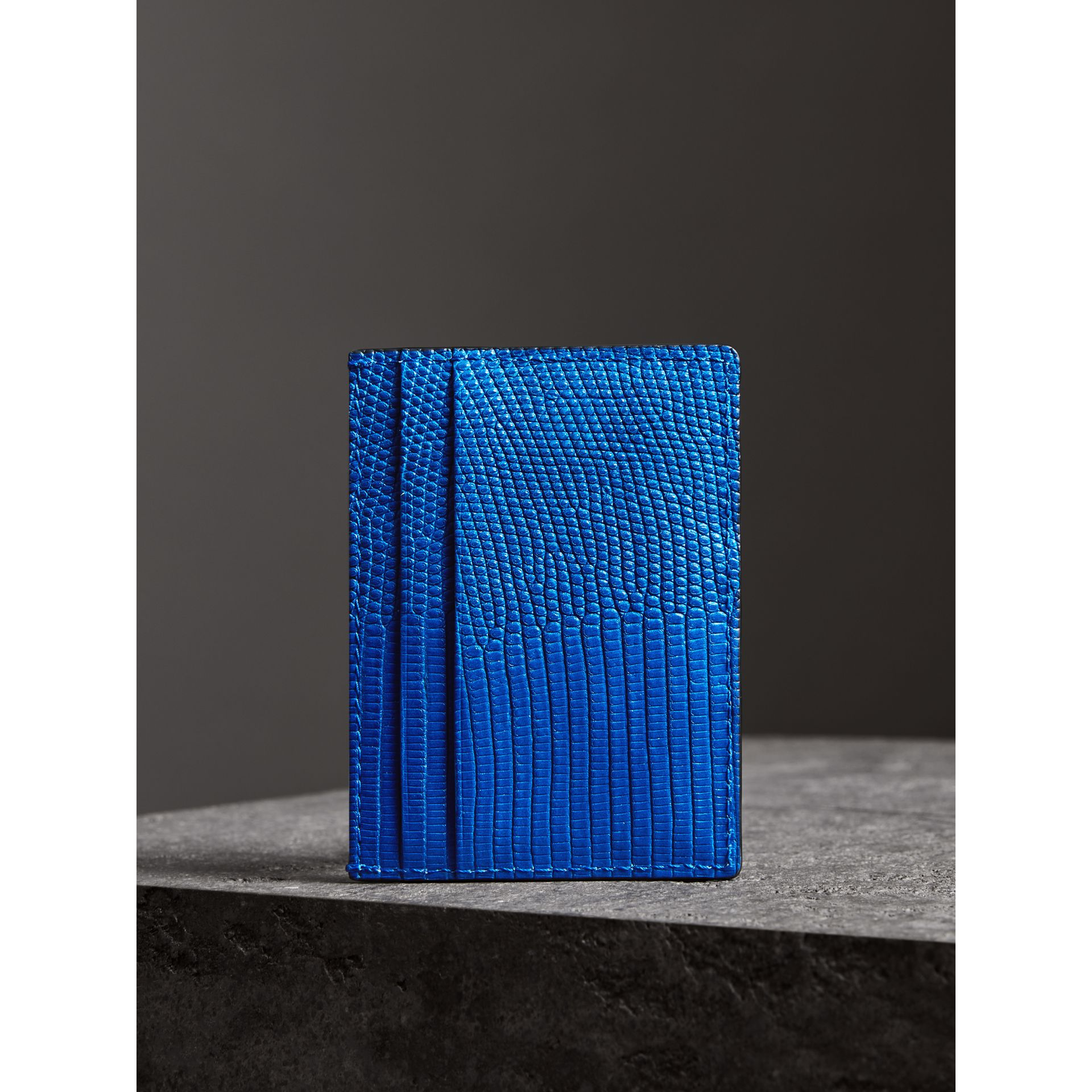 Lizard Card Case in Sapphire Blue | Burberry - gallery image 2