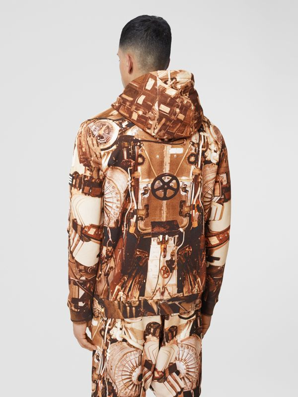 Submarine Print Cotton Hoodie in Bronze - Men | Burberry Hong Kong S.A.R - cell image 2