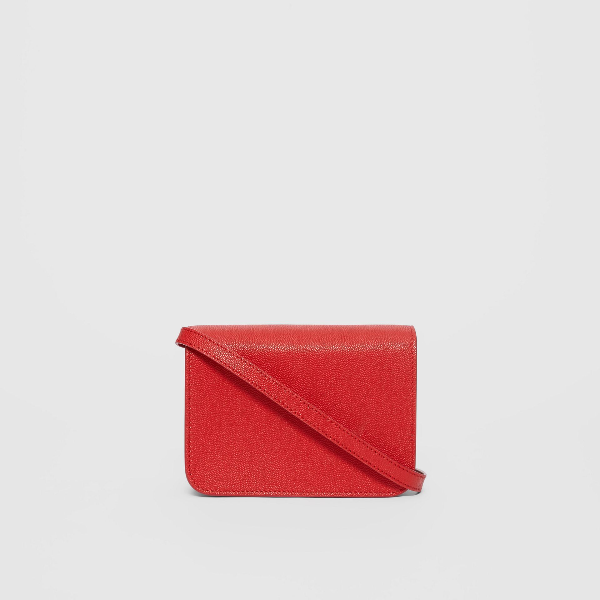 Mini Grainy Leather TB Bag in Bright Red - Women | Burberry Singapore - gallery image 5