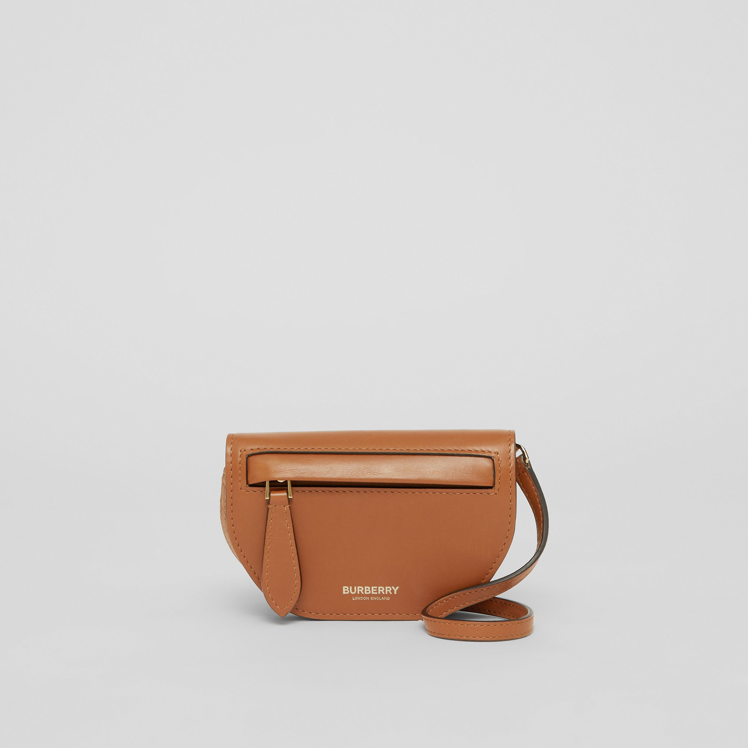 Leather Olympia Card Case with Detachable Strap in Warm Tan | Burberry - 1
