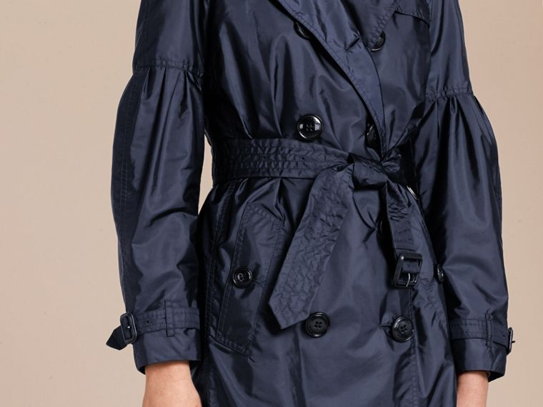 Packaway Trench Coat with Bell Sleeves in Navy - cell image 4