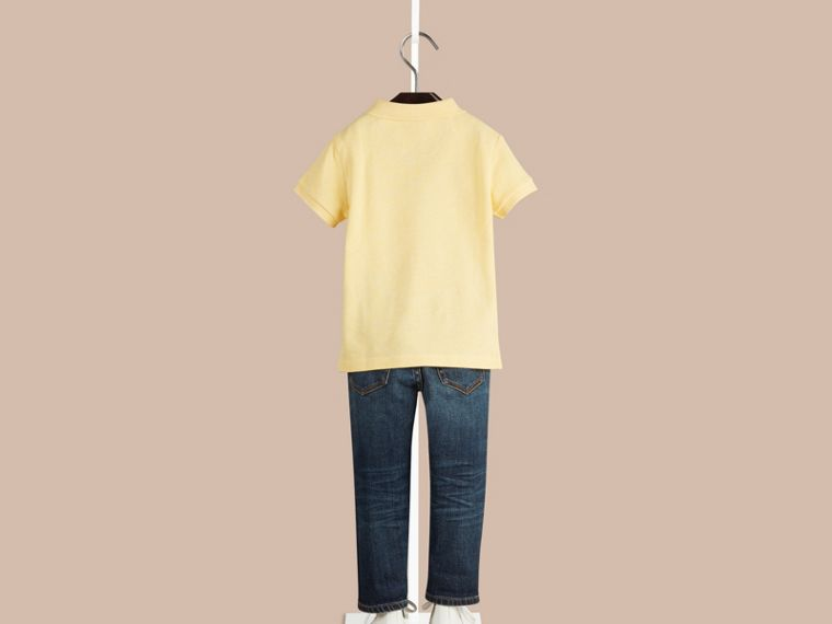 Camomile yellow melange Check Placket Polo Shirt Camomile Yellow Melange - cell image 1