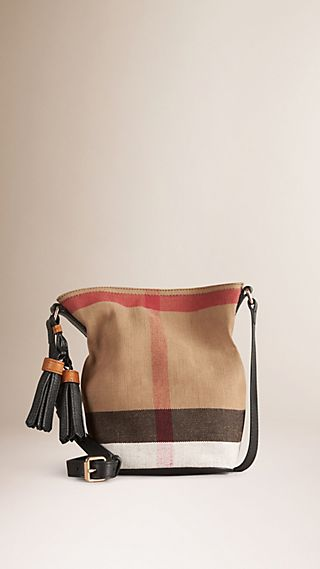 Petit sac The Ashby à motif Canvas check avec cuir